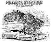 Print grave digger monster jam truck Coloring pages Free ...