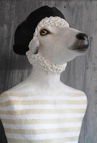 papier-mâché-sheep