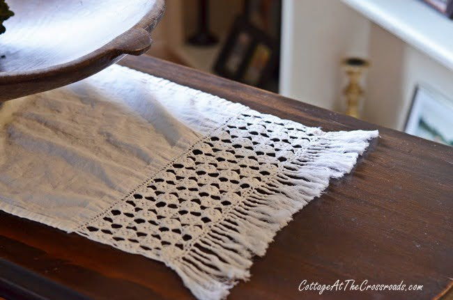 From My Front Porch To Yours-How I Found My Style Sundays-vintage dresser scarf | Cottage at the Crossroads
