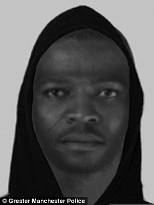 Greater Manchester Police are hunting this man is searching for this man in connection with the attack on the pregnant woman on January 17