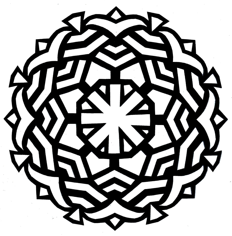 Simple Mandala Coloring Pages at GetColorings.com | Free ...