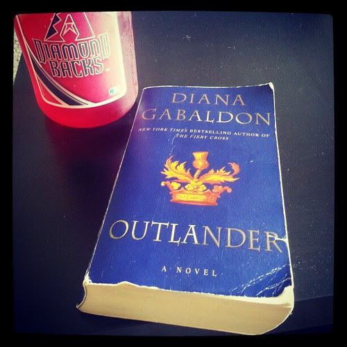 Started reading this and saw the author lives here. She lives just a few miles from my house!  Anyone read this series? #outlander