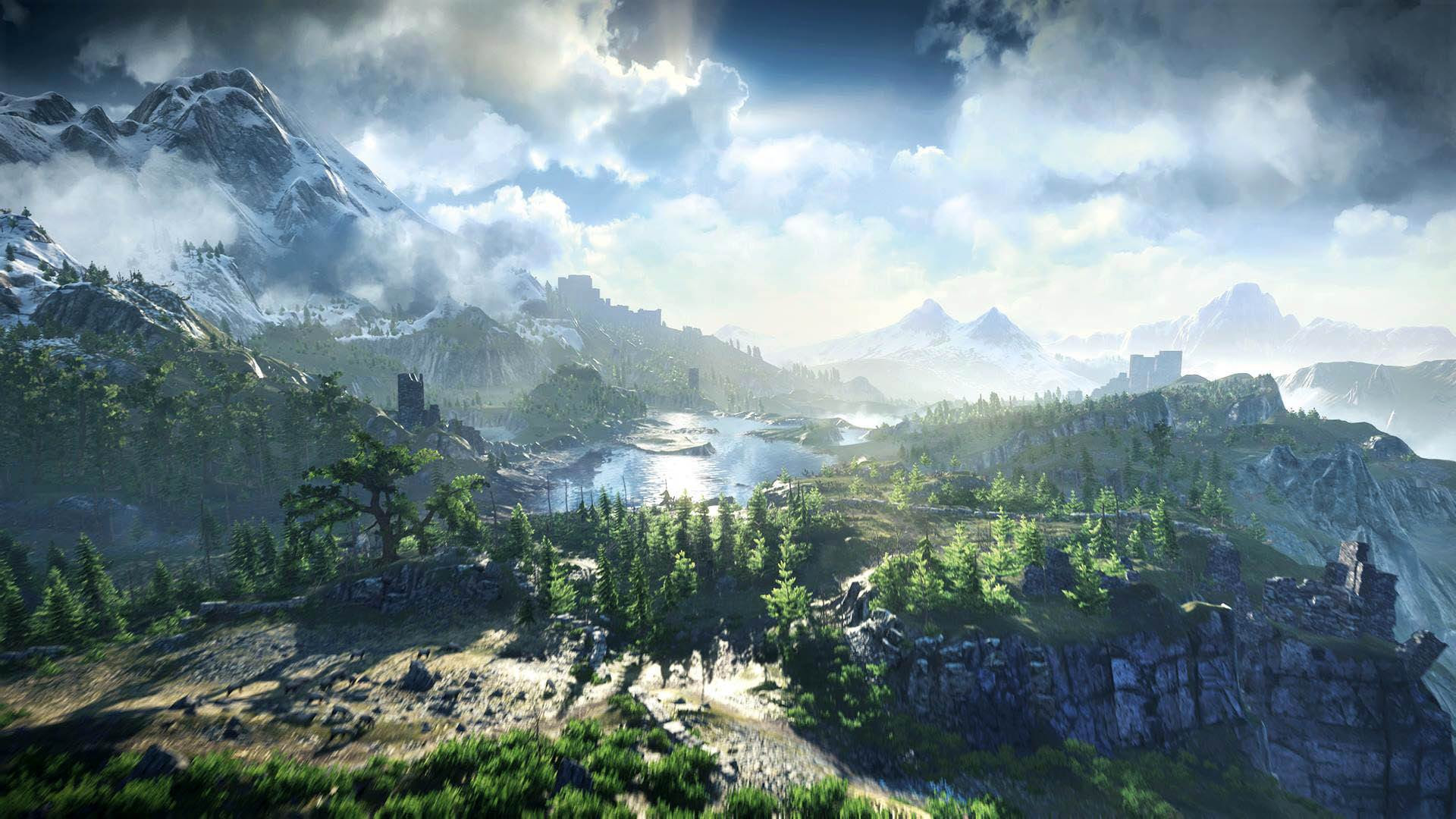 The Witcher 3 Wild Hunt Beautiful Landscape 1920 1080 Full Hd