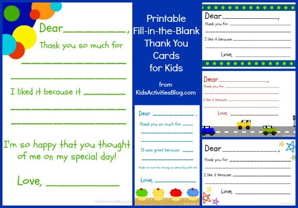 Free Printable Thank You Cards For Kids To Color Wedding Galery