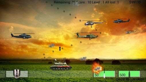 Screenshots of the Air defence for Android tablet, phone.