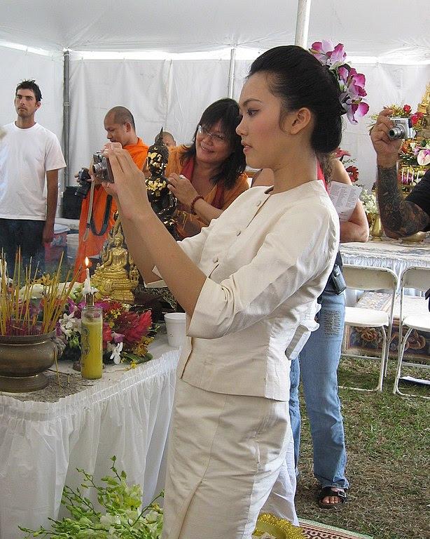 Asian Girl in white