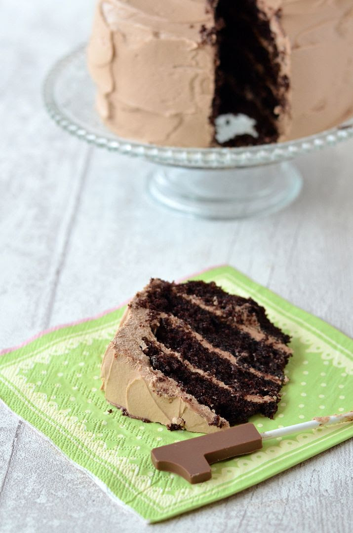 Rich Mocha Cake with Belgian Chocolate Buttercream