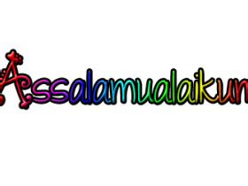gambar tulisan arab assalamualaikum warohmatullohi