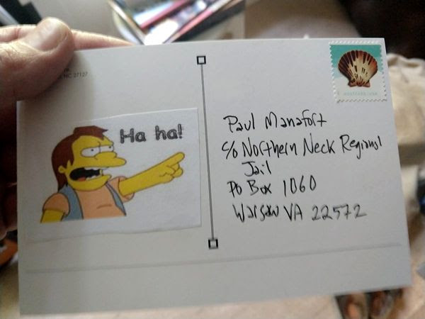 Send mail to that Trump-supporting American traitor Paul Manafort!
