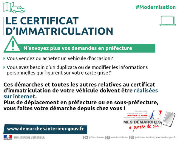 Cartes Grises Démarches Administratives Accueil Les
