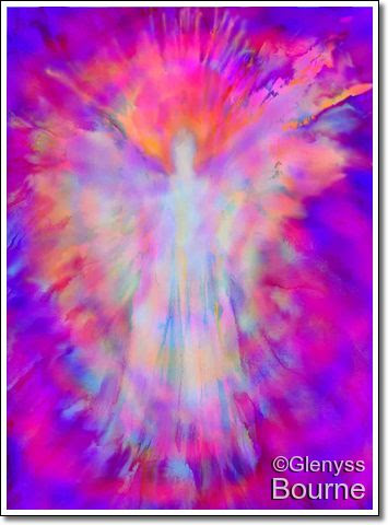 Angel of Inner Strength and Beauty painting