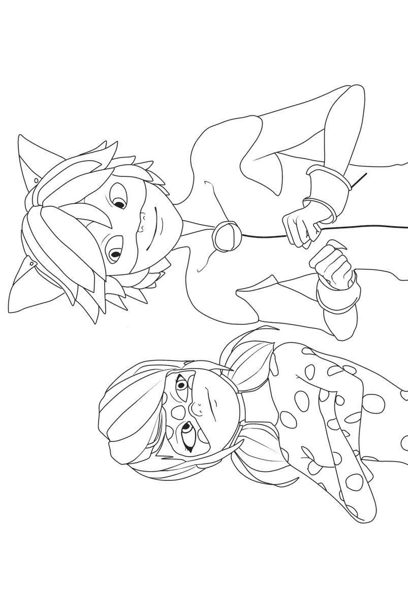 Miraculous Tales Of Ladybug Coloring Page Coloring Pages
