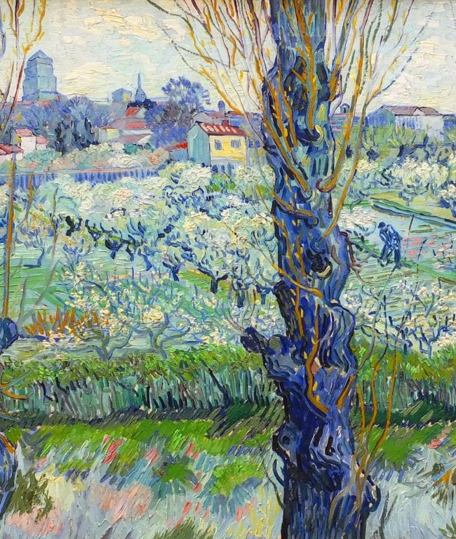 Flowering Orchards By Vincent van Gogh, Oil Painting