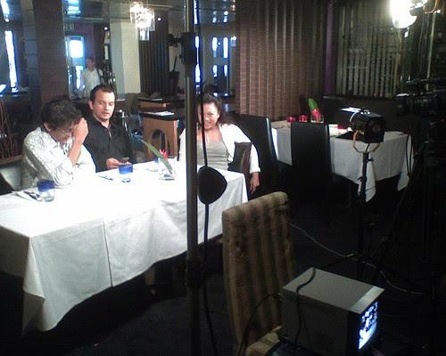 Hostess Fay with Jit Murad and Zahim Albakri