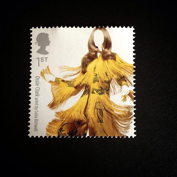Day 3: Yellow #postalsociety #psjune #yellow #londonfashionweek #postagestamp #stamp #lady #british #dress