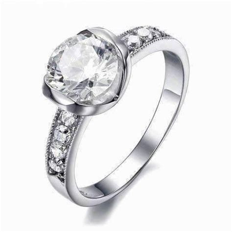 Eternal Love CZ Solitaire Stainless Steel Engagement Ring