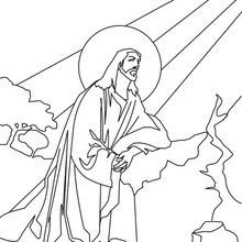 Dibujos Para Colorear Jesus En El Monte De Los Olivos Es Hellokids Com