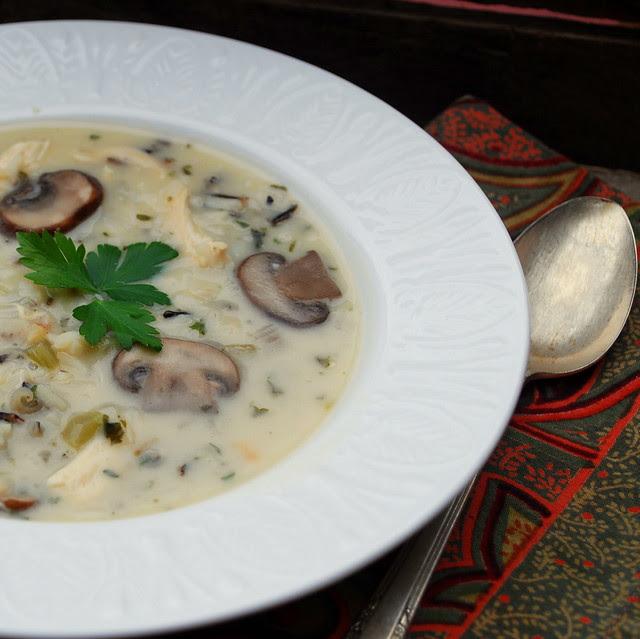 Chicken Mushroom Wild Rice Soup 2