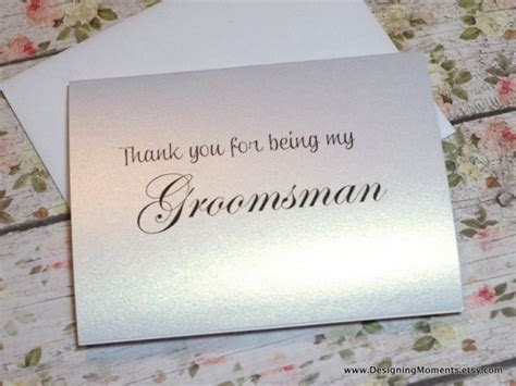 Thank You For Being My Groomsman, Groomsman Thank You Card