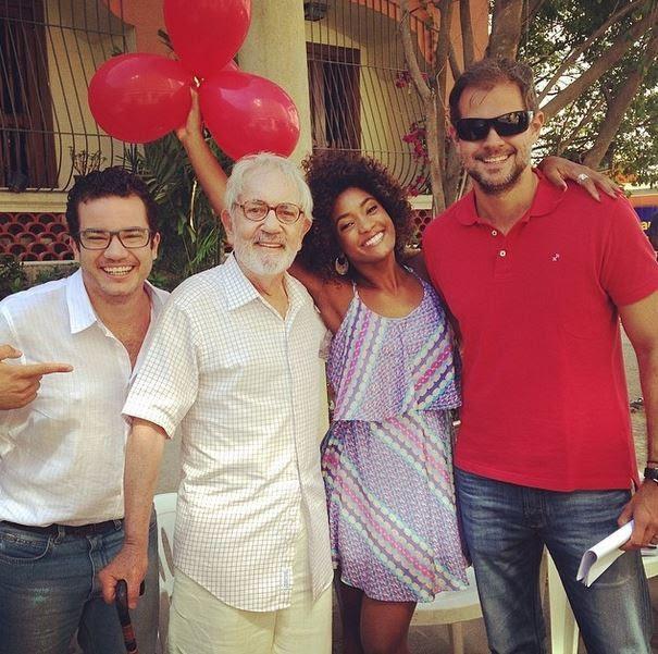 Thiago Mendonça, Paulo José, Erika Januzza e Leonardo Nogueira (Foto: Instagram / Reprodução)