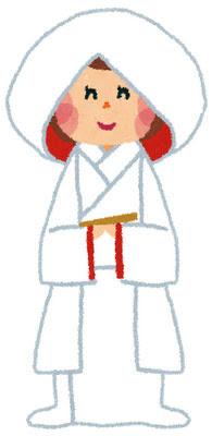フリー素材 白無垢姿の新婦を描いたイラスト素材です和風な結婚式の