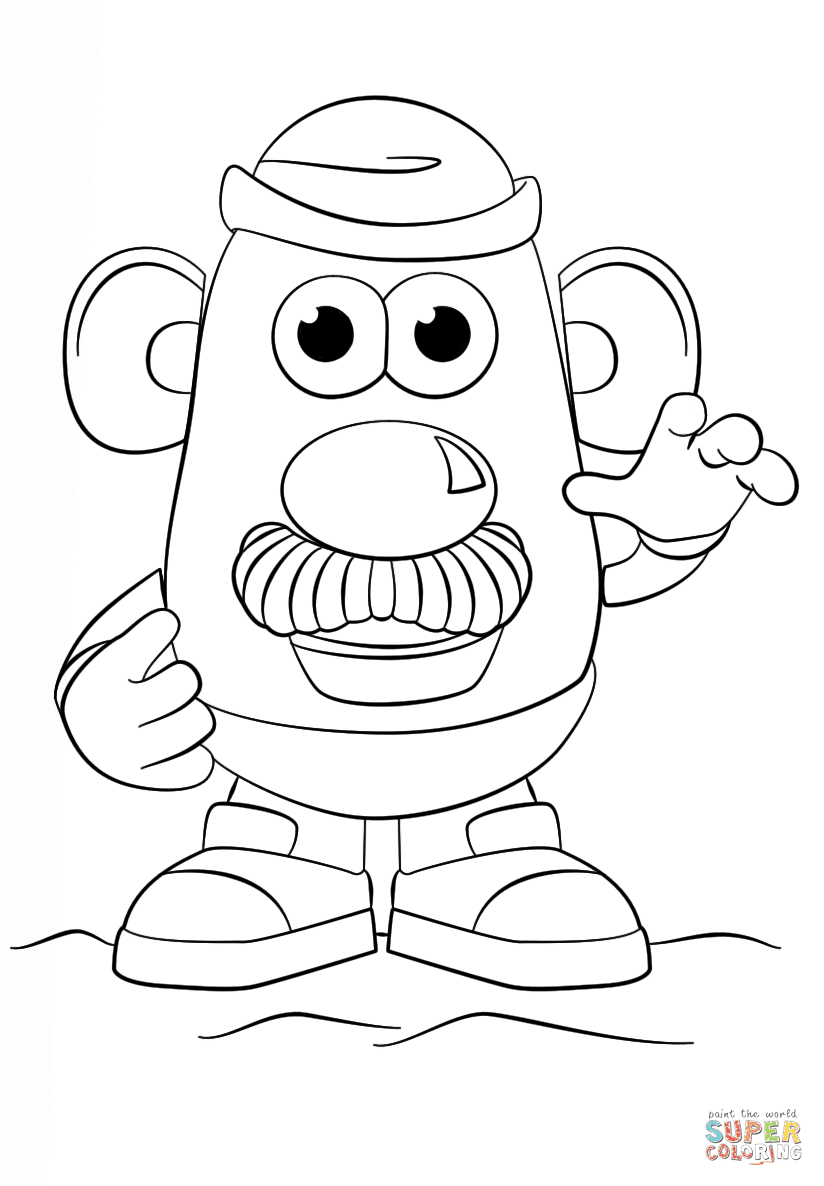 Mister Potato Head Sheets Coloring Pages
