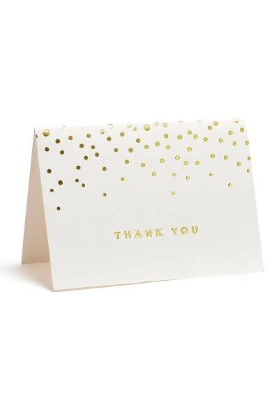 GOLD FOIL DOTS THANK YOU CARD 50CT