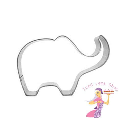 Elephant Cookie Cutter   Iced Jems Shop