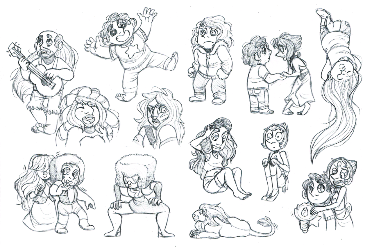 Some fun Steven Universe sketches. It's fun to try and do the characters in my style.