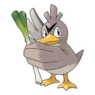 Pokemon character Farfetch'd