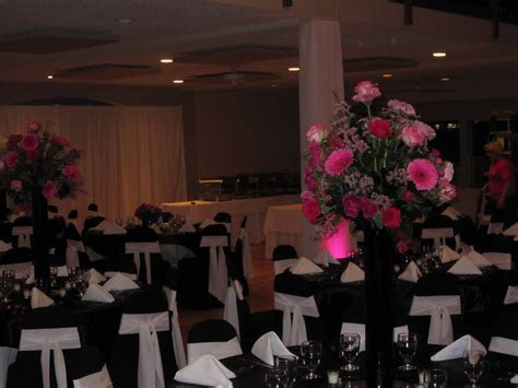 cocoonpatt   black white and pink wedding decorations