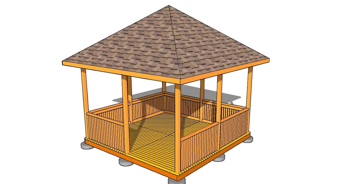 Example project guide gazebo plans woodworking plans for Easy to build gazebo