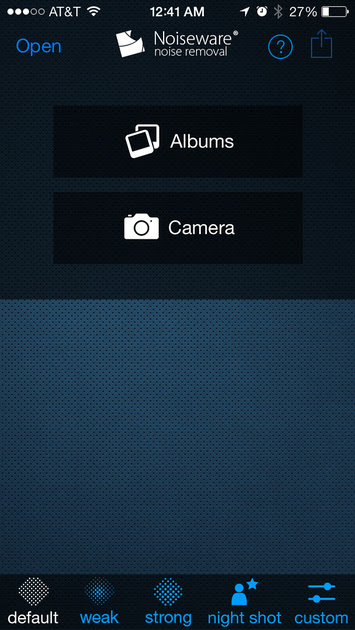 Get started with a new photo or one from your saved images on your iOS device