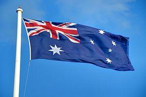 Australian flag seen flying in Toowoomba, Quee...