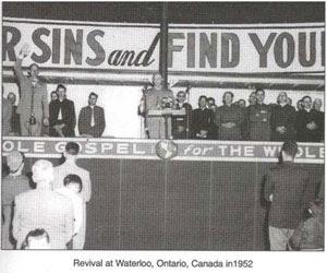 Revival at Waterloo, Ontario, Canada in 1952