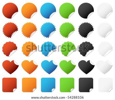 stock vector : Badge Sticker Set Vector