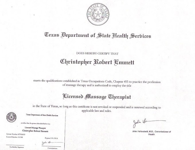 Massage Therapy License Texas Renewal