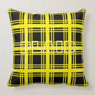 Tartan (Yellow) Pillow throwpillow