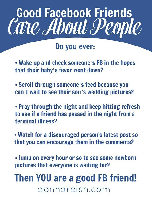 Facebook Can Be A Loving Caring Place Donna Reish