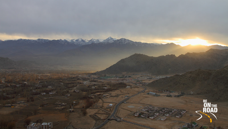 Sunset over Leh