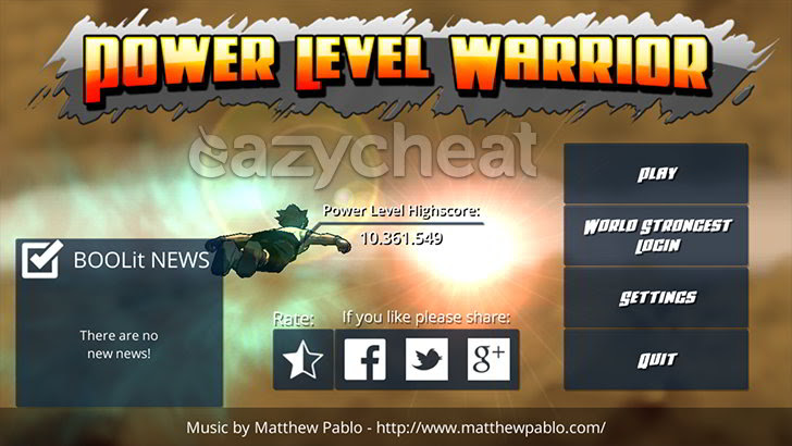 Power level Warrior v1.1.3 Cheats