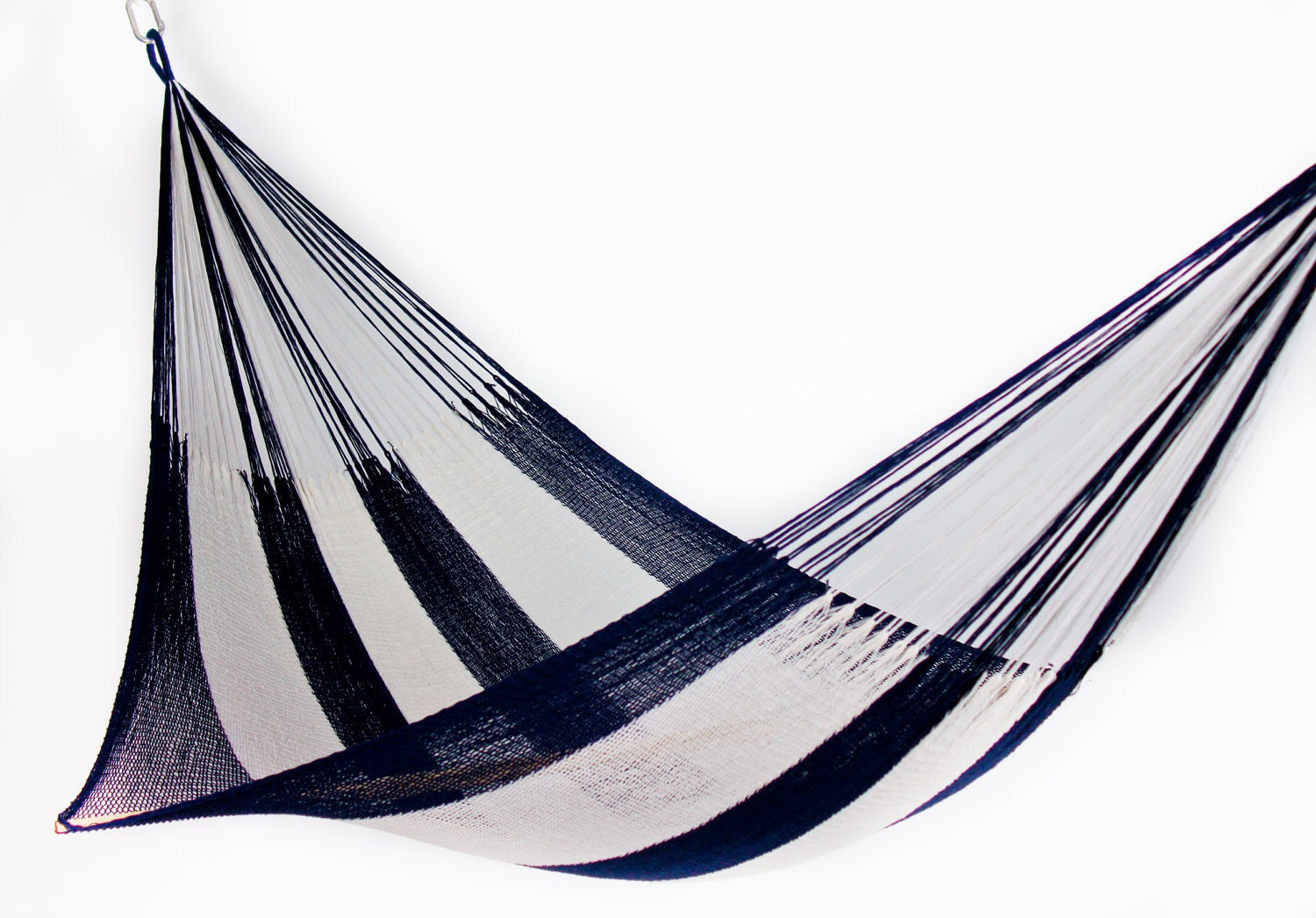 Hammock: Navy Blue & White Stripe (Two Person) by Yellow Leaf with Free Shipping
