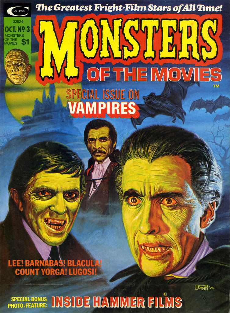 Monsters Of The Movies, Issue 3 (1974) Cover Art by Bob Larkin