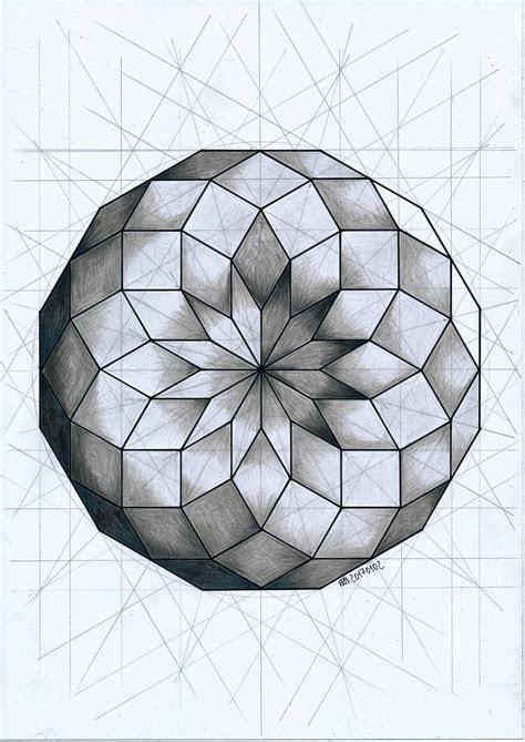 polyhedron draw  doodle geometry art geometric art
