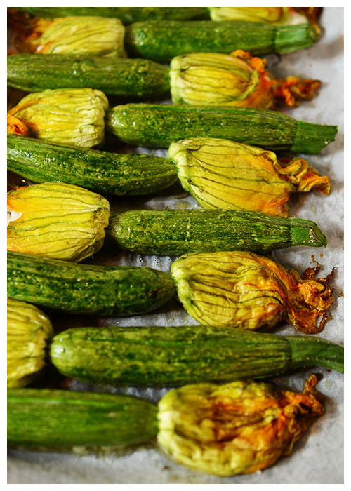 Oven Baked Stuffed Zucchini Flowers© by Haalo