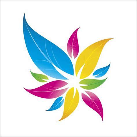 colorful floral logo design  corel draw
