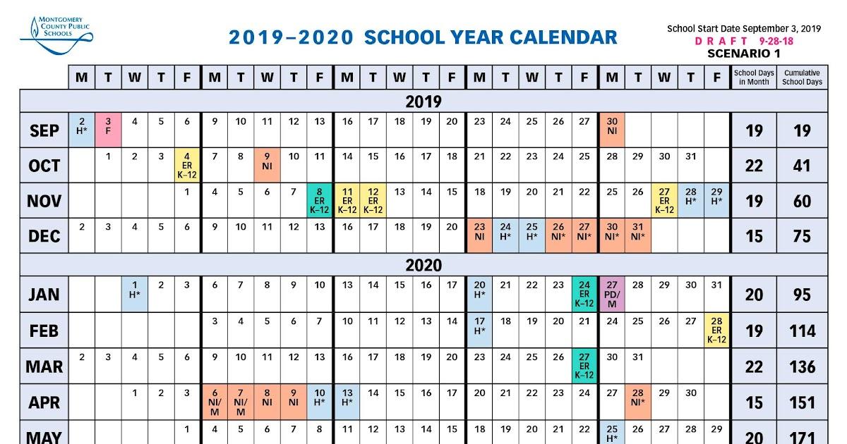 Mcps 2019 2021 Calendar | Academic Calendar