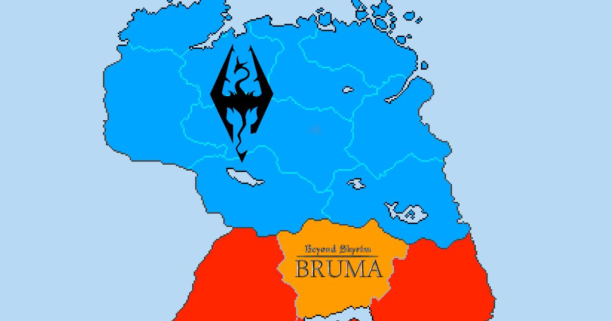 Uesp Skyrim Map