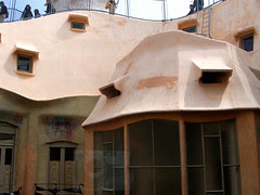 La Pedrera from window