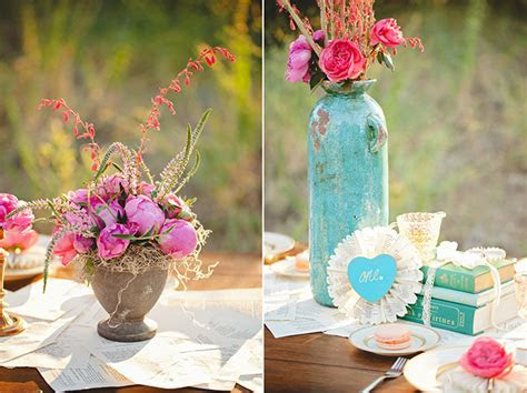 Romantic Pink and Turquoise Wedding Inspiration   Glamour